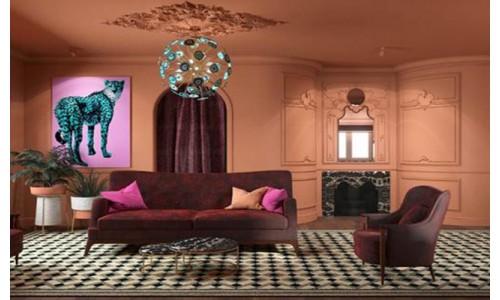 Терракотовая гостиная с элементами рококо! Высокий Свет официальный партнер программ КВАРТИРНЫЙ ВОПРОС и ДАЧНЫЙ ОТВЕТ на телеканале НТВ