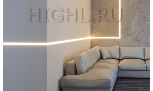 Новинка! Безрамочные линейные светильники под гипс L-3535 F