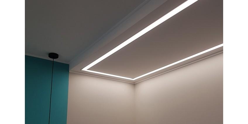Линейные гипсовые светильники в очередном проекте.